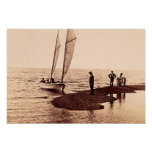 Dunkirk, New York, Sailing on Lake Erie Print