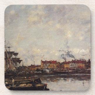 Dunkirk, the Inner Port by Eugene Boudin Beverage Coaster