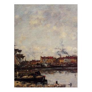 Dunkirk, the Inner Port by Eugene Boudin Postcard