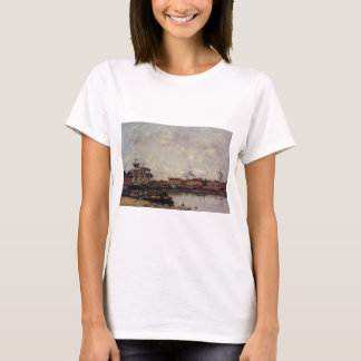 Dunkirk, the Inner Port by Eugene Boudin T-Shirt