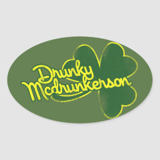 Dunky Mcdrunkerson Oval Sticker