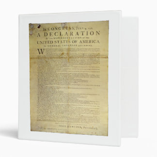 Dunlap Broadside Declaration of Independence 1774 3 Ring Binders