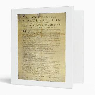 Dunlap Broadside Declaration of Independence 1774 Binder