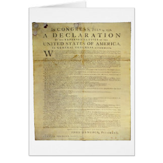 Dunlap Broadside Declaration of Independence 1774 Card