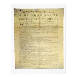 Dunlap Broadside Declaration of Independence 1774 Letterhead