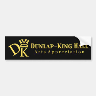 Dunlap King Hall V.2 Bumper Sticker