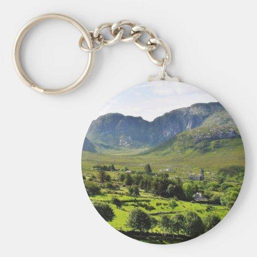 Dunlewy Mountains Ireland Keychains