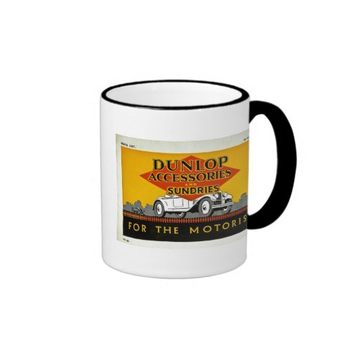 Dunlop Accessories and Sundries for the Motorist Ringer Coffee Mug