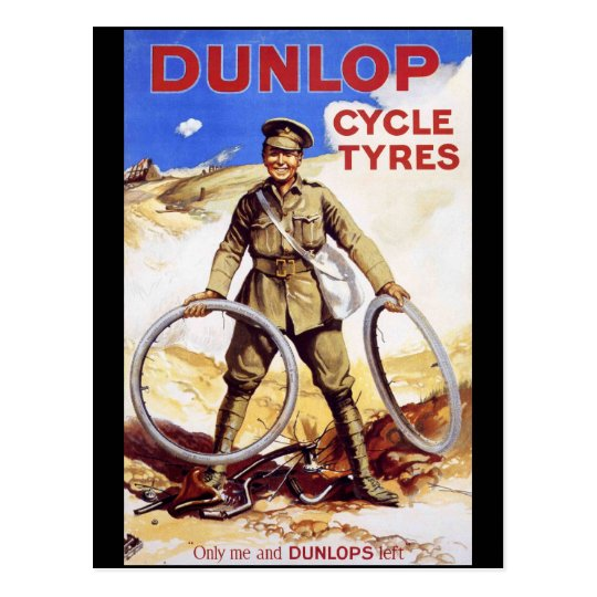 Dunlop Cycle Tyres Postcard