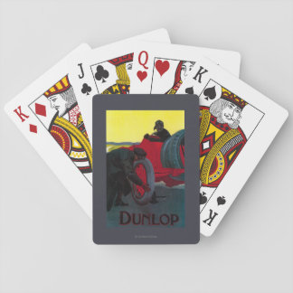 Dunlop Vintage PosterEurope Playing Cards