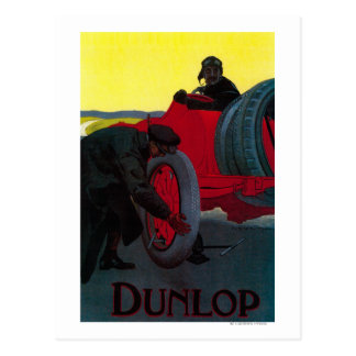 Dunlop Vintage PosterEurope Postcard