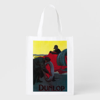 Dunlop Vintage PosterEurope Reusable Grocery Bags