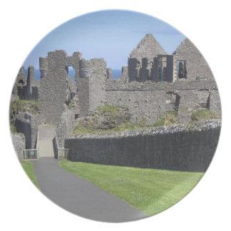 Dunluce Castle near Bushmills and Portrush, 2 Party Plates