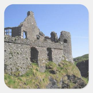 Dunluce Castle near Bushmills and Portrush, 3 Square Sticker