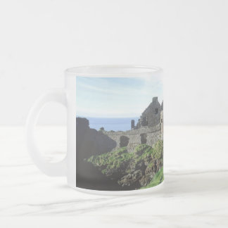 Dunluce Castle-Northern Ireland Frosted Glass Coffee Mug