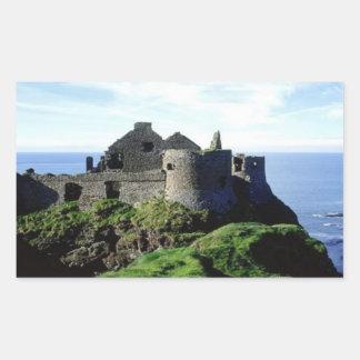 Dunluce Castle-Northern Ireland Rectangular Sticker