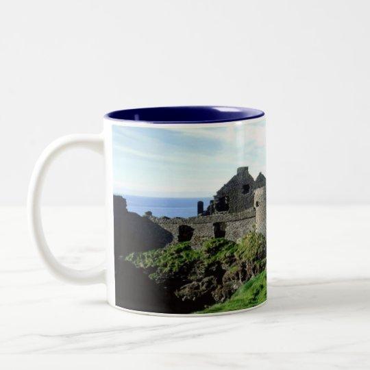 Dunluce Castle-Northern Ireland Two-Tone Coffee Mug
