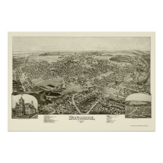 Dunmore, PA Panoramic Map - 1892 Poster