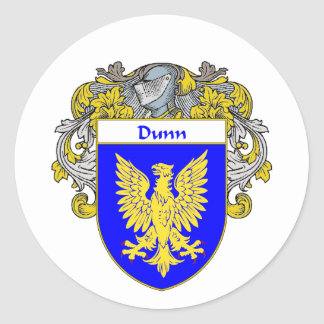 Dunn Coat of Arms (Mantled) Classic Round Sticker