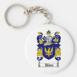 DUNN FAMILY CREST -  DUNN COAT OF ARMS BASIC ROUND BUTTON KEYCHAIN