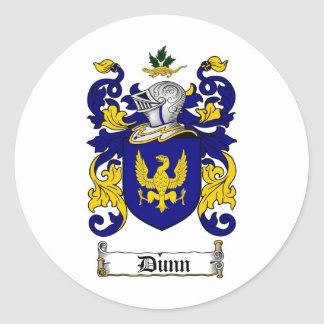 DUNN FAMILY CREST -  DUNN COAT OF ARMS CLASSIC ROUND STICKER
