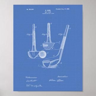Dunn Golf Club 1900 Patent Art - Blueprint Poster