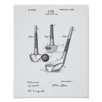 Dunn Golf Club 1900 Patent Art - White Paper Poster