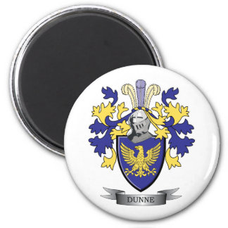 Dunne Coat of Arms 2 Inch Round Magnet
