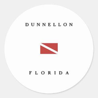Dunnellon Florida Scuba Dive Flag Sticker