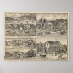 Dunnigan, inviernos, granja de Madison Posters