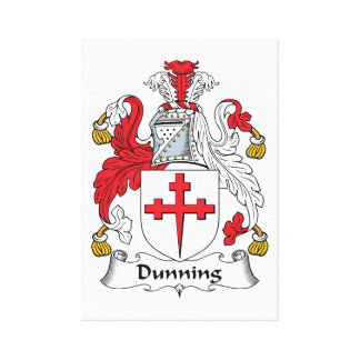Dunning Family Crest Stretched Canvas Prints