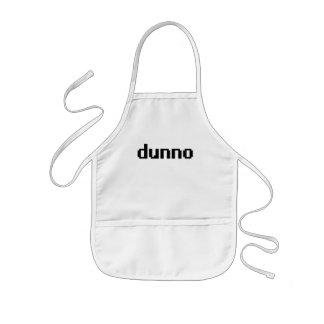dunno kids' apron