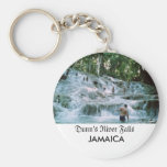 Dunn's River Falls Basic Round Button Keychain