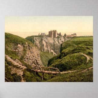 Dunottar Castle, Stonehaven, Scotland archival pri Poster