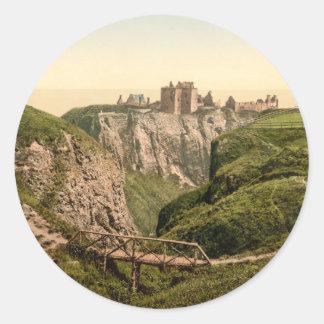 Dunottar Castle, Stonehaven, Scotland Classic Round Sticker