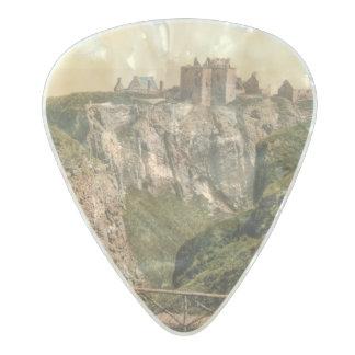 Dunottar Castle, Stonehaven, Scotland Pearl Celluloid Guitar Pick