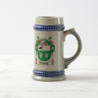 Dunphy Family Crest Beer Stein