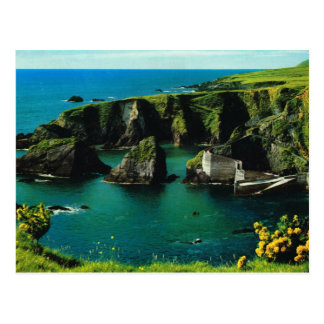Dunquin harbour, Derry, Ireland, vintage postcard