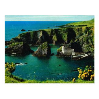 Dunquin harbour, Derry, Ireland, vintage postcard