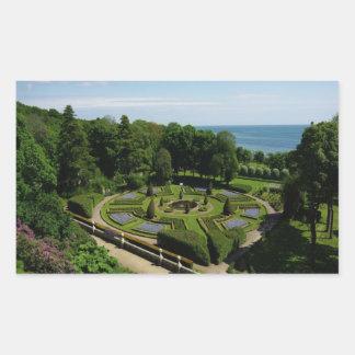 Dunrobin Castle Gardens Rectangular Sticker