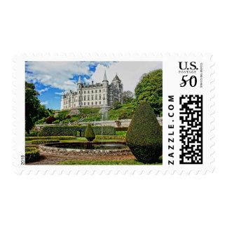 Dunrobin Castle Scotland Gardens Stamp