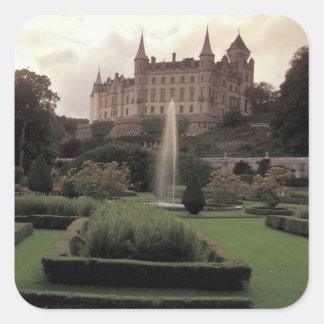 Dunrobin Castle, Scotland Square Stickers