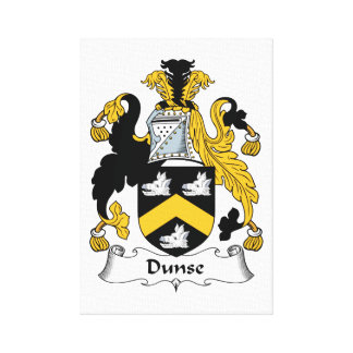 Dunse Family Crest Stretched Canvas Print
