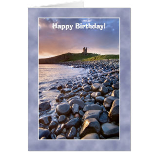 Dunstanburgh Castle Birthday Card - Northumberland