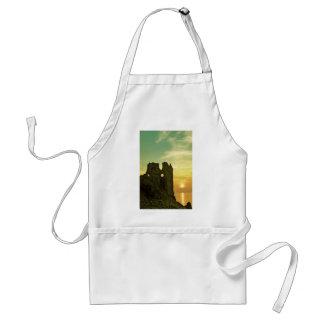 Dunure Castle Sunset Adult Apron