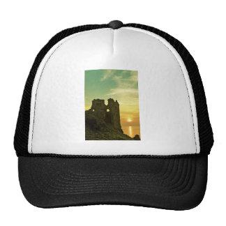 Dunure Castle Sunset Mesh Hats