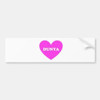 Dunya Bumper Sticker