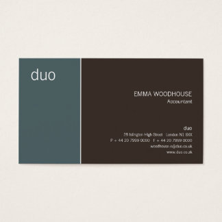 Duo Cadet Blue & Brown Business Card