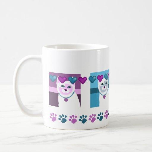Duo-chrome Cats & Monochrome Dogs Classic White Coffee Mug