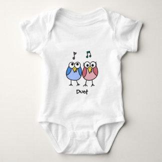 Dúo de Byrdies del bebé del muchacho y del chica Camisas